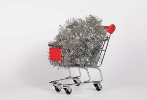 Christmas decoration in shopping cart  Flip 2019