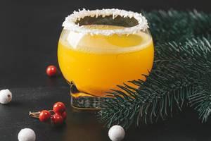 Christmas orange cocktail on dark background (Flip 2019)
