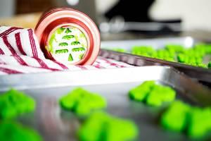 Christmas tree cookie press