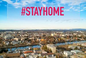 CItyview with #stayhome text