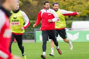 Claudio Pizarro von 1. FC Köln beim Training