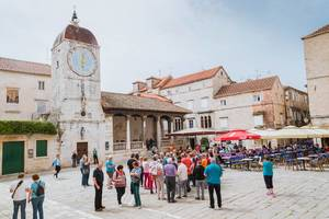 Clock tower in Trogir