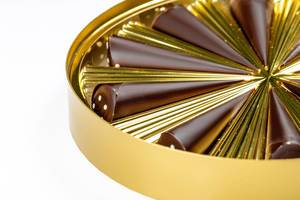 Close up of a golden box with chocolates (Flip 2020)