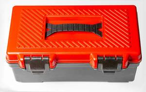 Close-up of a plastic tool box (Flip 2020)