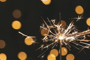 Close up of a sparkler burning (Flip 2019)