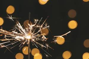 Close up of a sparkler burning