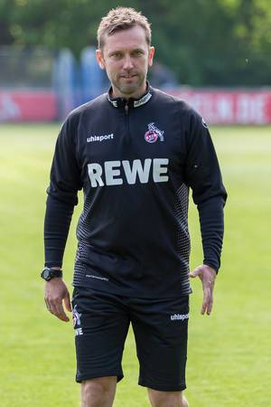 Close-up of André Pawlak, the new German football coach of the 1. FC Köln (Cologne) after the first team training