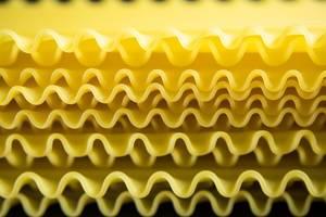 Close-up of lasagna sheets