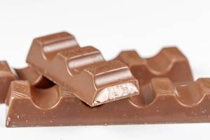 Close-up of milk chocolate candies (Flip 2020)