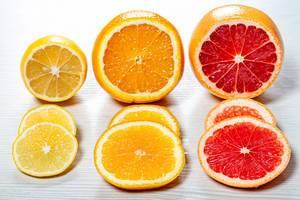 Close up of sliced fresh ripe citrus (Flip 2019)