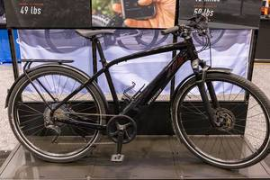 Close-up of Turbo Vado Hybrid Bike by Specialized