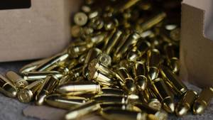 Close Up on 9mm Bullets