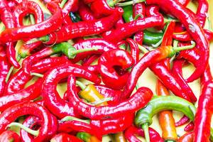 Close Up Photo of Cayenne Peppers at Chicago City Market, Illinois