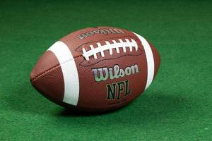 Close Up Photo of NFL Wilson Football on Green Carpet