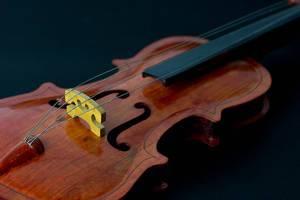 Close Up Photo of Vintage Violin on Dark Background