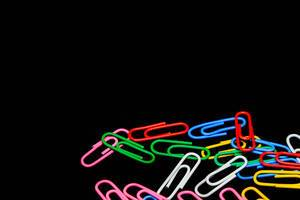 Close up shot of paperclips