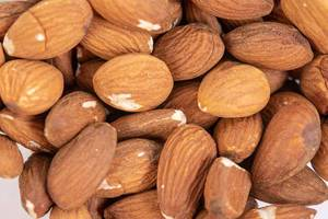 Closeup macro of Raw Almonds