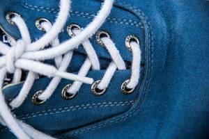 Closeup of a Blue Shoe