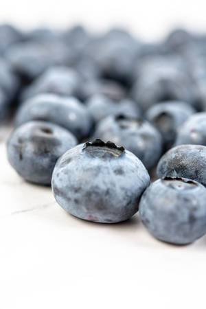 Closeup of Fresh Whole Blueberries