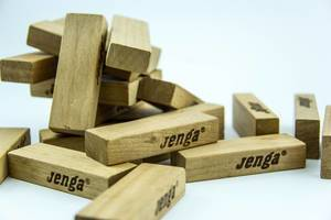 Closeup of Jenga Blocks