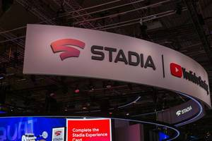 Cloud-Gaming-Service Stadia at the german games fair Gamescom 2019 in Cologne
