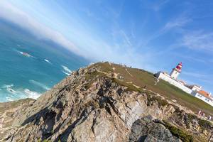 Coastal view of Cabo da Roca with lighthouse