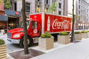 Coca Cola LKW in Chicago Downtown geparkt