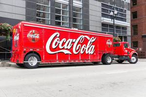 Coca Cola LKW in Chicago