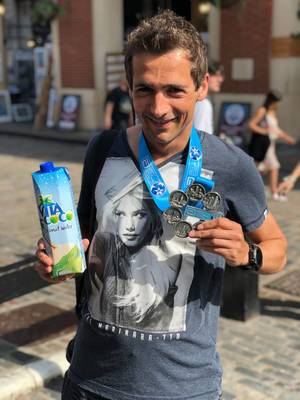 Coconut Water and my Six Star Finish Medal