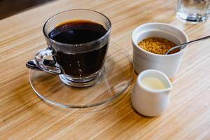 Coffee with sugar and creamer on side (Flip 2019)