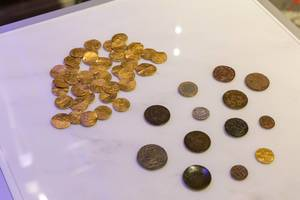 Coins of different eras at White Tower Museum