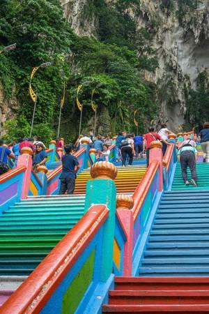 Coloful Stairway at Batu Caves in Kuala Lumpur