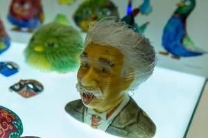 Color 3D printing of Albert Einstein by FFF