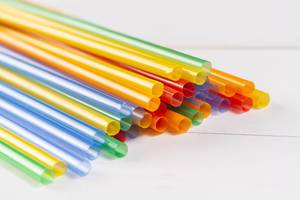 Colored Plastic Straws for juice on the table (Flip 2019)