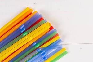 Colored Plastic Straws for juice
