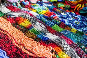 Colorful bead necklaces