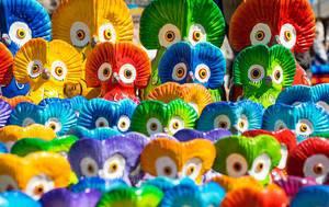 Colorful Guatemalan clay owls  Flip 2019