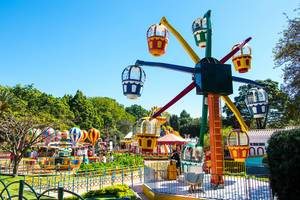 Colorful kids games in an amusement park  Flip 2019