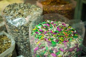 Colorful seed mix