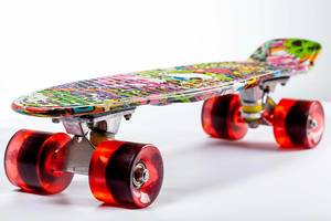 Colorful skateboard on a white background (Flip 2019)