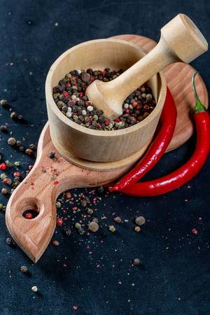 Colorful spices for delicious dishes