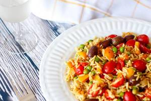 colorful vegetable rice