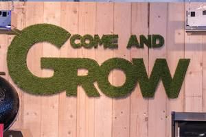 Come and Grow written with artificial grass