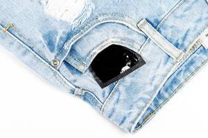 Condom in the pocket of women
