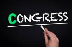 Congress text on blackboard