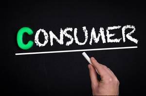 Consumer text on blackboard
