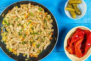 Cooked Vegetables with Pasta and Pickles with Paprika (Flip 2020)