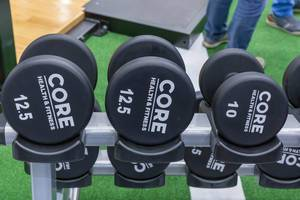Core Health & Fitness 10 kg and 12.5 kg dumbbells at Fibo Cologne
