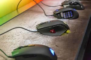 Corsair Gaming-Mäuse mit RGB Beleuchtung. Harpoon, M65 Pro, Glaive und Scimitar