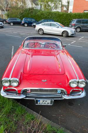 Corvette Cabrio in rot